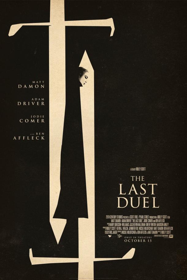 Эпический дублированный трейлер нового фильма Ридли Скотта «Последняя дуэль»